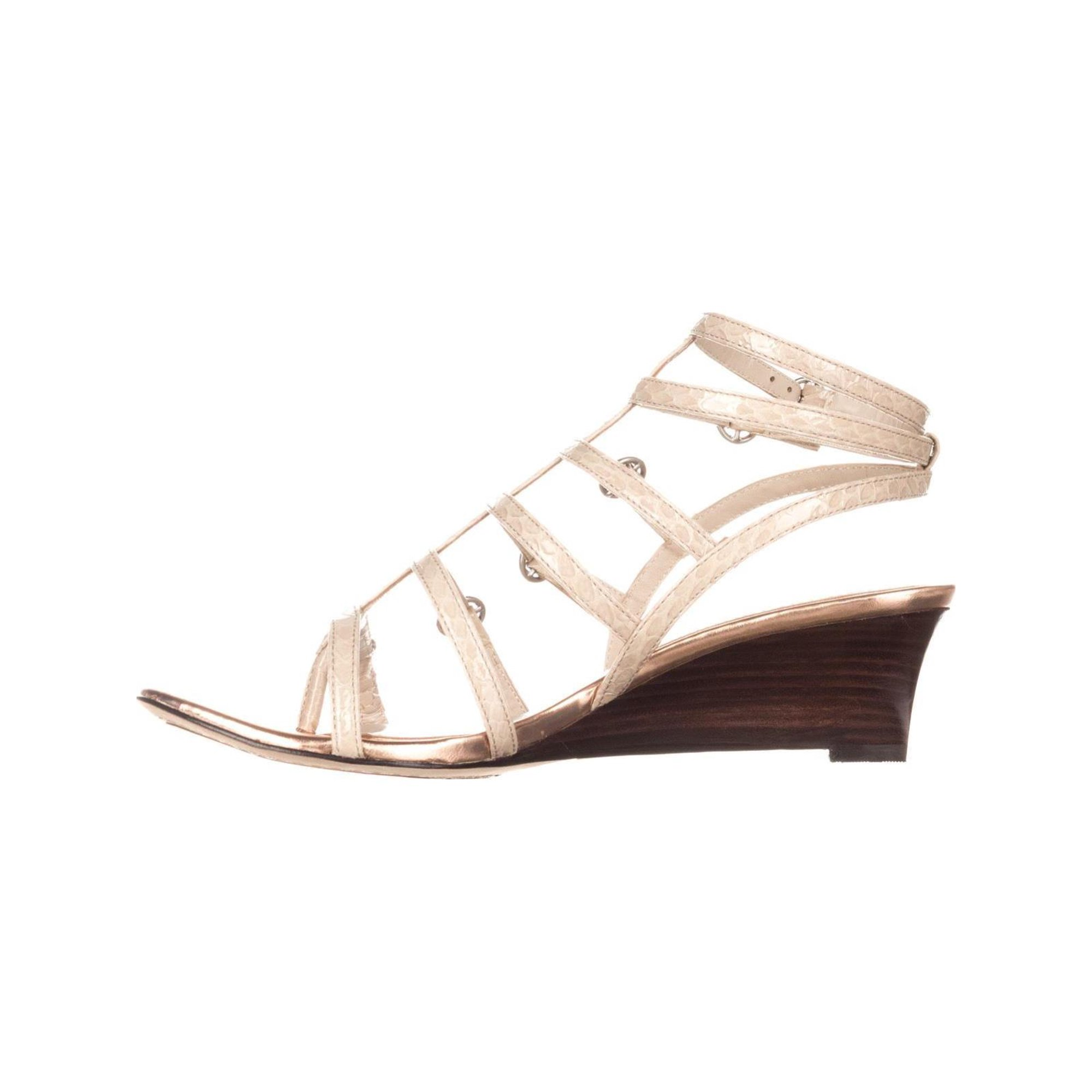 a3e9ba7c865e Elie Tahari Gladiator Wedge Sandals