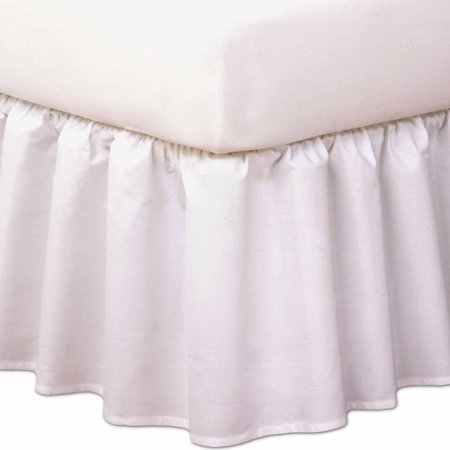 Levinsohn Magic Skirt Wrap-Around Ruffled Bedding Bed Skirt