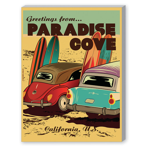 Americanflat Diego Patino Paradise Cove Vintage Advertisement by Americanflat