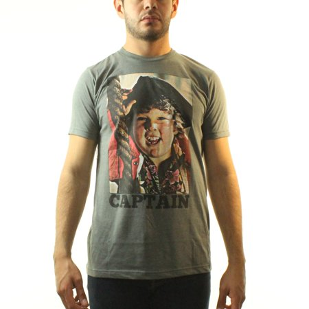 The Goonies Captain Mens Grey T Shirt New Sizes S Xl