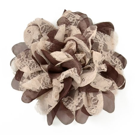 Expo Int'l Mary Kate Lace Chiffon Flower Brooch Pin and Hair Clip (Hair Pin Lace Vest)
