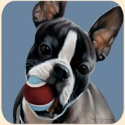 Fiddler's Elbow Boston Terrier with Ball Mouse Pad
