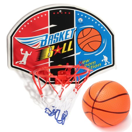 Indoor Portable Basketball System Backboard with Ball Hoop and Net + Basketball + Needle Children Kids Mini Basketball Game Set Toys