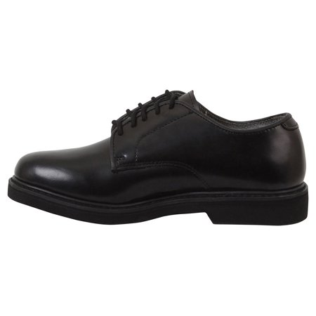 Rothco Military Uniform Soft Sole Oxford Leather Shoes - Black, 11.5 Wide Black Uniform Shoes