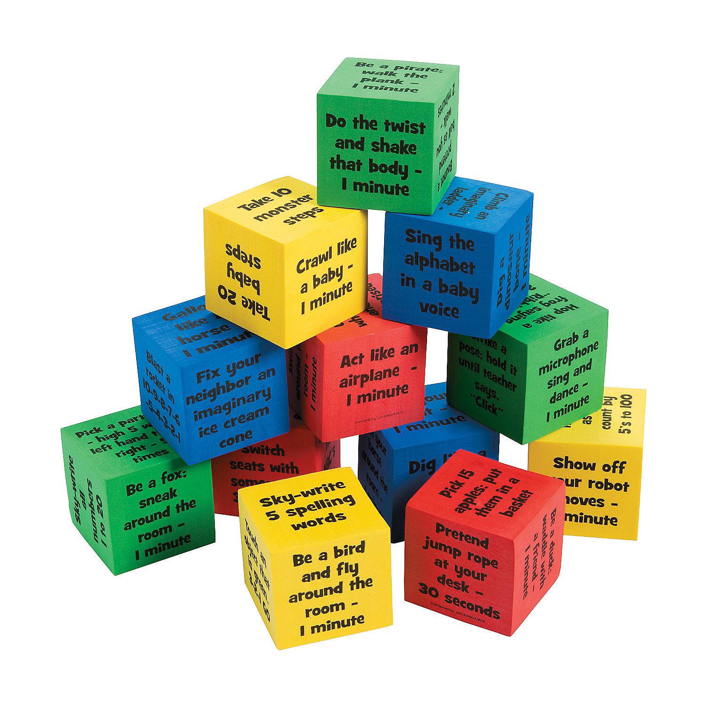 IN-13719334 Classroom Brain Break Activity Dice Per Dozen