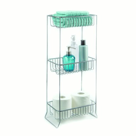 Bathroom accessories corner stand open wire design with for Bathroom accessories at walmart