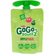 Gogo Squeez Apple Peach On The Go Applesauce, 4ct (Pack of 12)