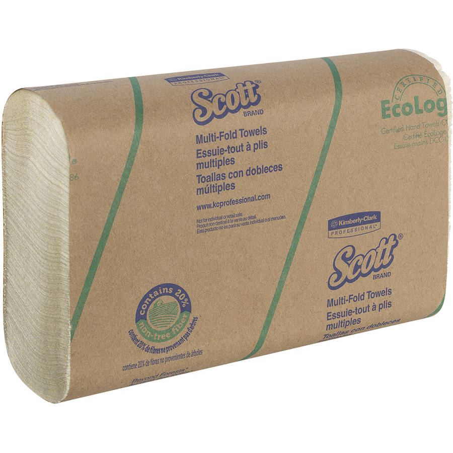 Scott Multi-Fold Paper Towels, 16 Packs of 250 sheets, 4000 Total