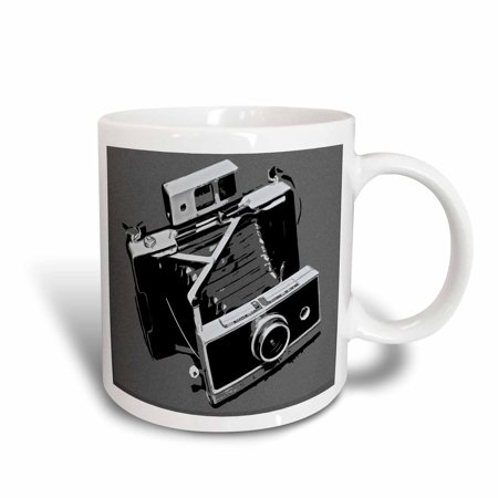 3dRose Picture of a Old Vintage Classic Camera with bellows, Ceramic Mug, 15-ounce