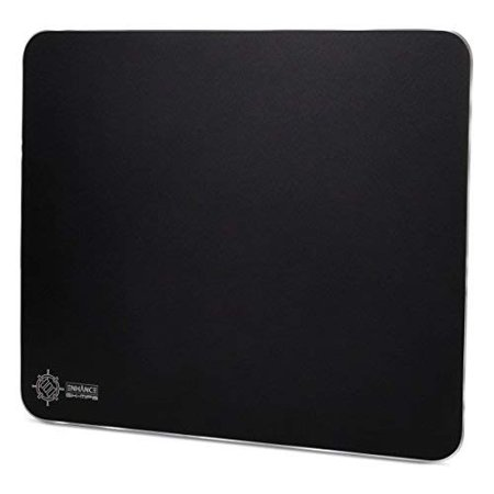 ENHANCE Aluminum Metal Gaming Mouse Pad - Hard XL Mouse Mat Surface , Non-Slip Rubber Base & High Accuracy Optimized Tracking - Brushed Metal Sleek Surface for Responsive
