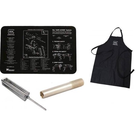 Hot Tools 1.5 Spring - Glock Perfection Apron + Glock Cleaning Work Bench Gun Mat + Glock GT03374 3/32 Punch Armorers Gunsmith Takedown Tool + Front Sight Tool