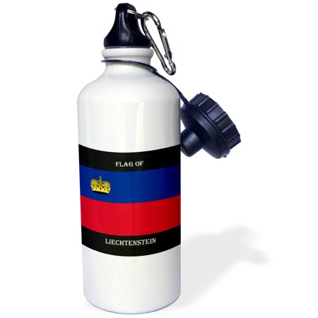 3dRose Flag of Liechtenstein, Sports Water Bottle, 21oz