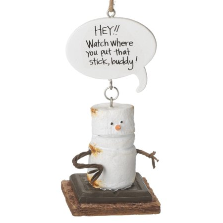Smores Hey Watch Where You Put That Stick Christmas Holiday Ornament Midwest CBK](Popsicle Stick Ornaments)