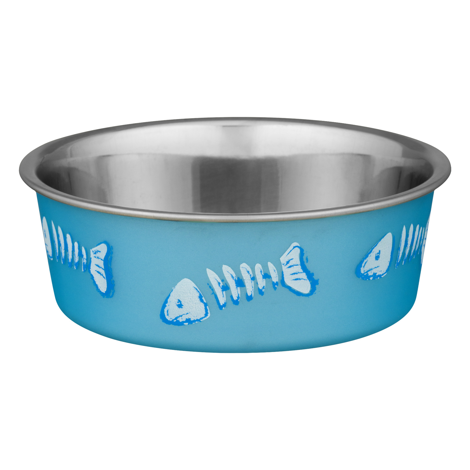 (2 Pack) Loving Pets Bella Bowls Stainless Steel Small Blue Cat Bowl
