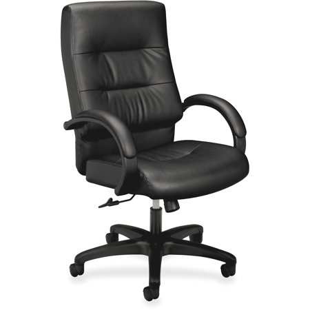 Basyx Vl690 Series Executive High Back Leather Office Chair Black