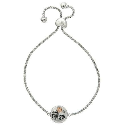 Stainless Steel Mom Adjustable Lariat Bracelet