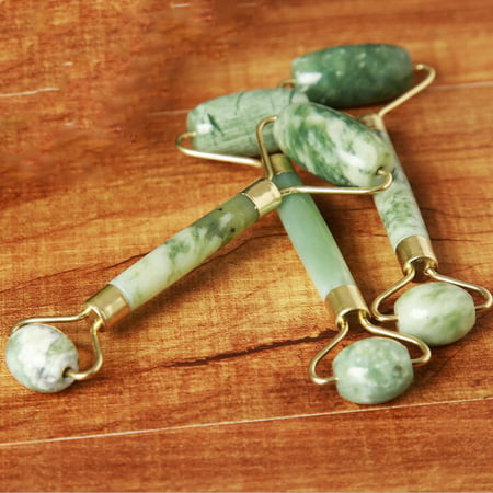 100% Natural jade facial roller double Neck Healing Slimming Massager Anti Aging Jade roller Therapy