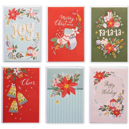 American Greetings 48-Count Blank Holiday Greeting Card Bundle Holiday Greetings Band