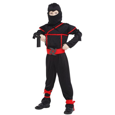 Boys' Stealth Ninja Action Dress-Up Play Costume Set, M (Buy Costumes Online Uk)