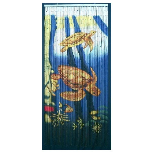 Bamboo54 Sea Turtle Scene Single Curtain Panel