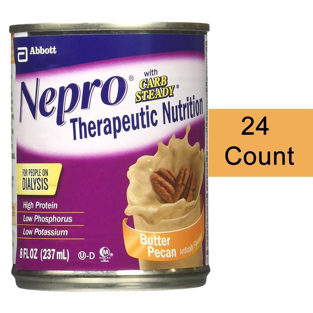 Nepro Complete Nutrition with Carb Steady Ready-to-Drink, Butter Pecan, 8 Ounces, 24 Ct