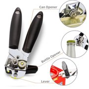 """FeelGlad 3-In-1 Can Opener, Manual Smooth Edge and Heavy Duty, Build in Durable Bottle Opener and Lid Lifter Bottle, Opener for Kitchen, 8"""" Length"""