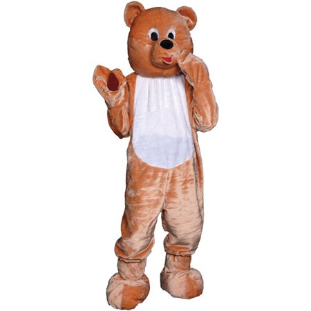 Teddy Bear Mascot Adult Halloween Costume, Size: Men's - One Size](Adult Bear Costumes)