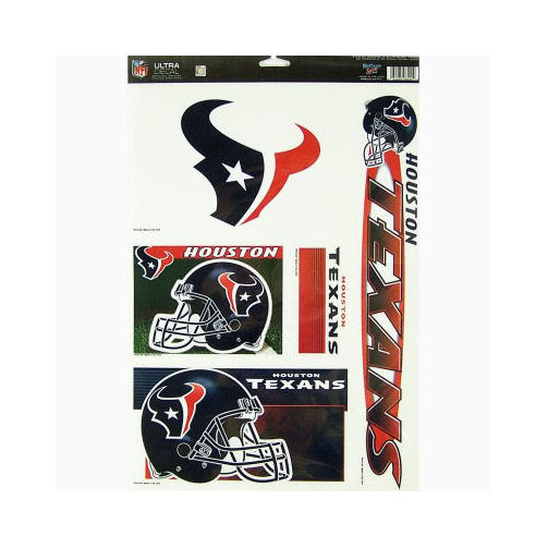 Houston Texans Official NFL 11 inch x 17 inch  Car Window Cling Decal by Wincraft