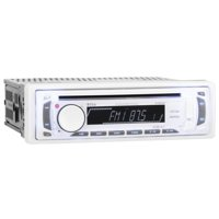 Boss Audio MR648W 1-DIN Marine CD/MP3 Receiver, White
