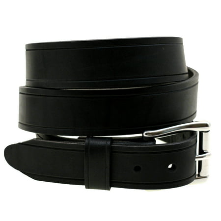 Mens 1 1/2 Black Latigo Leather Belt With Saddle Groove Made In USA