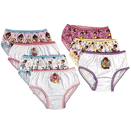 Disney Fancy Nancy Little Girls & Big Girls Underwear, 7 Pack