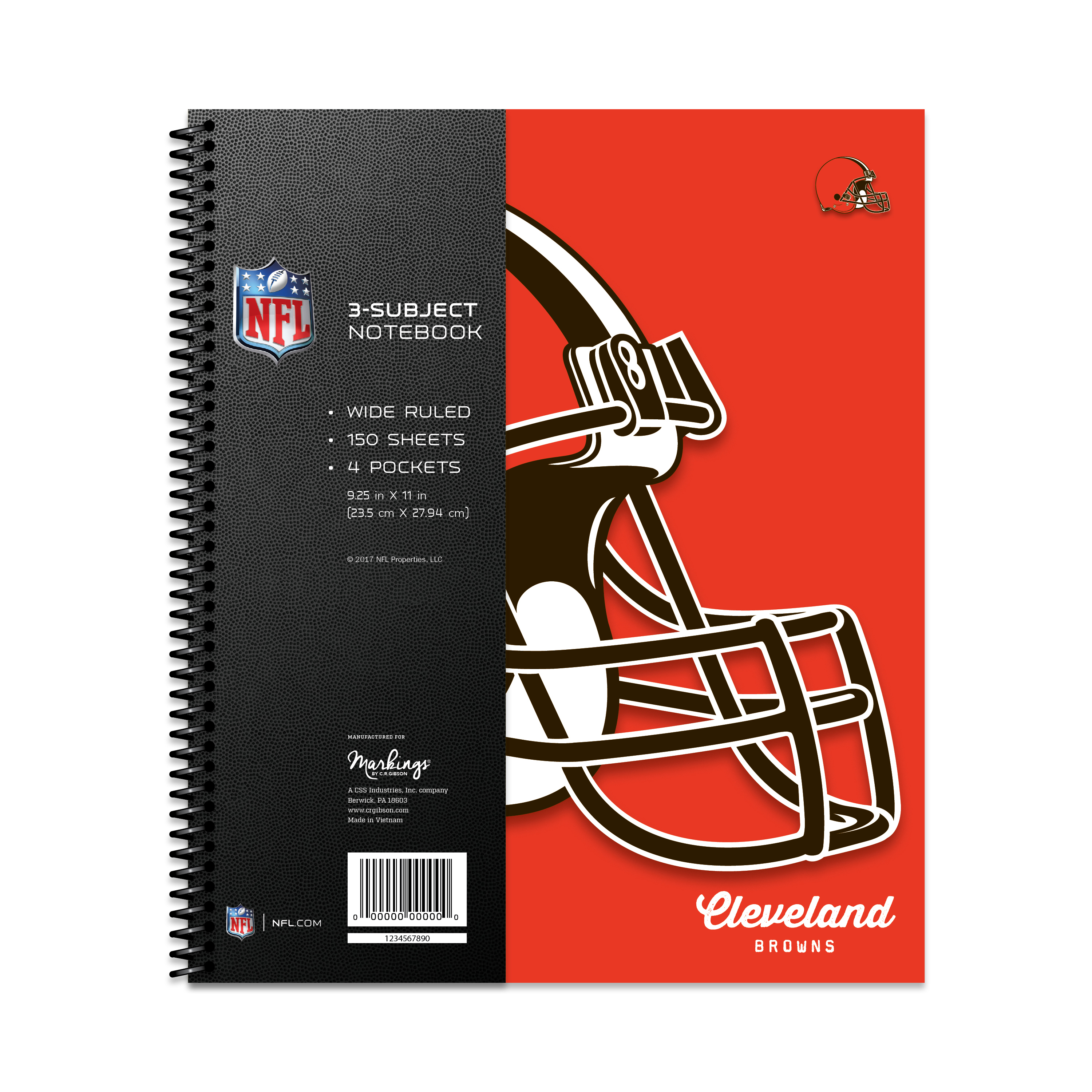 CLEVELAND BROWNS CLASSIC 3-SUBJECT NOTEBOOK