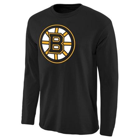 Boston Bruins Rinkside Fan Big Logo Long Sleeve T-Shirt - (Big Mall In Boston)