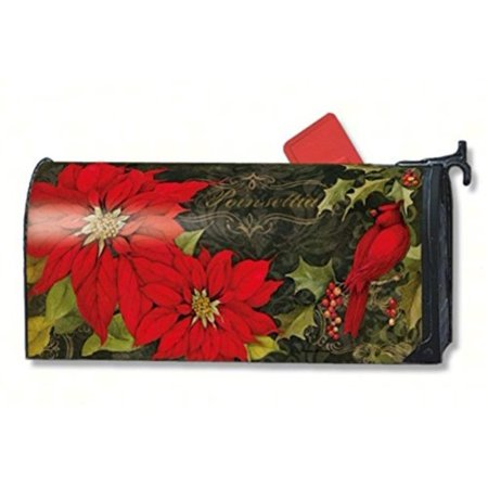 Magnet Works Mail01017 Poinsettia Cardinals Mail Wrap
