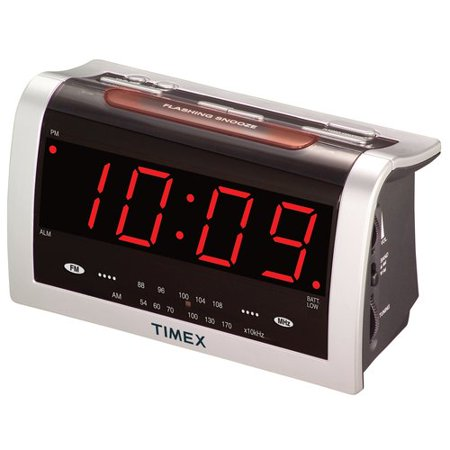 timex jumbo display alarm clock radio. Black Bedroom Furniture Sets. Home Design Ideas