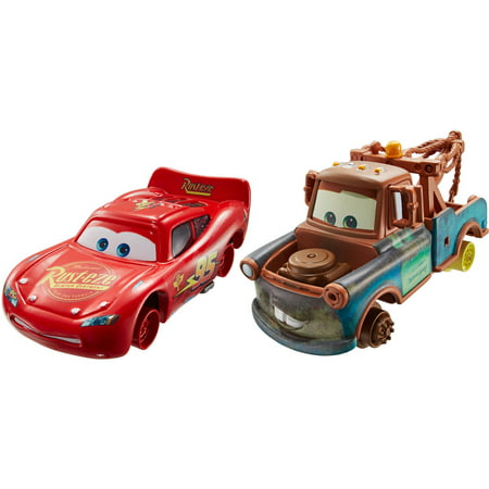 Disney Cars 2-Pack Mater with No Tires and Lightning McQueen with No (Lightning Mcqueen And Mater Best Friends)