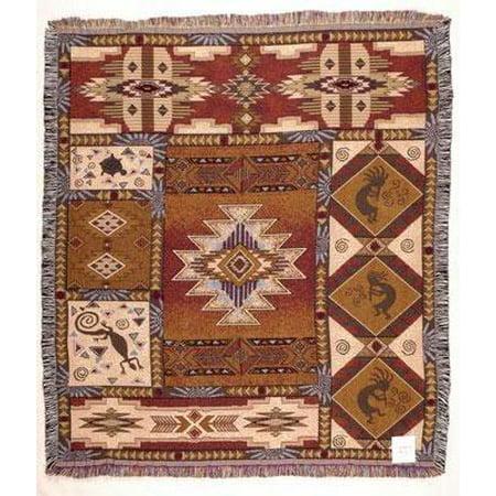 Kokopelli Blanket (Kokopelli Mid-Size Deluxe Tapestry Throw Blanket USA Made )