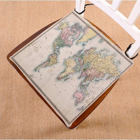 Superb Phfzk Ancient Global Map Chair Pad Educational World Map Geologist Gifts Seat Cushion Chair Cushion Floor Cushion Two Sides Size 20X20 Inches Inzonedesignstudio Interior Chair Design Inzonedesignstudiocom