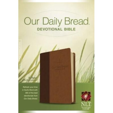 Our Daily Bread Devotional Bible  New Living Translation  Brown   Tan Leatherlike Tutone