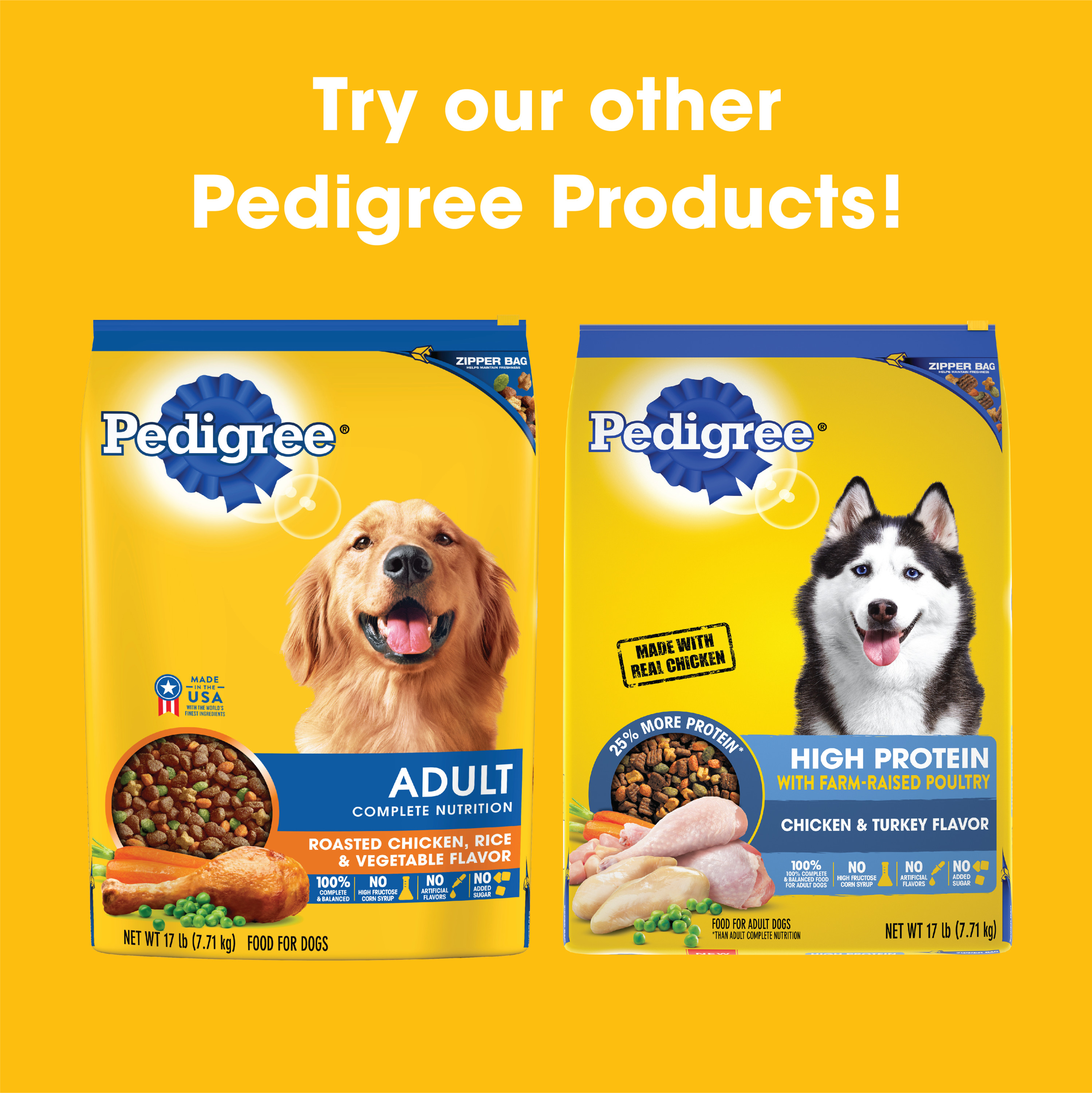 Pedigree High Protein Adult Dry Dog Food Beef And Lamb Flavor 3 5