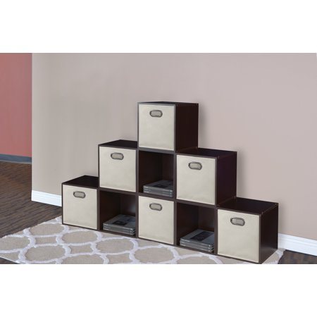 Niche Cubo Foldable Fabric Storage Bin, Set of 6- Natural - Tall Storage Bins