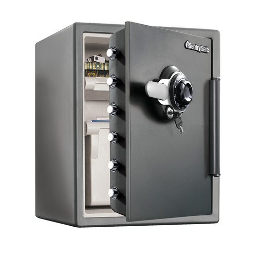 Sentry Safe Water Resistant Combination Security Safe with Dial / Combination/Key/Dual-Lock