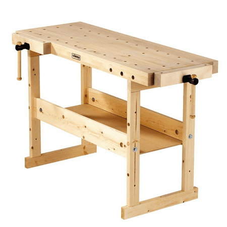 Sjobergs Nordic Plus 1450 Birch Wood Hobby and Garage Compact Tools Workbench (Birch Workbench)