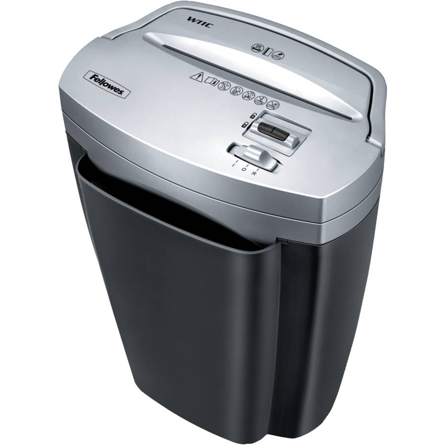 Fellowes Powershred W11C 11-Sheet Personal Cross-Cut Paper Shredder