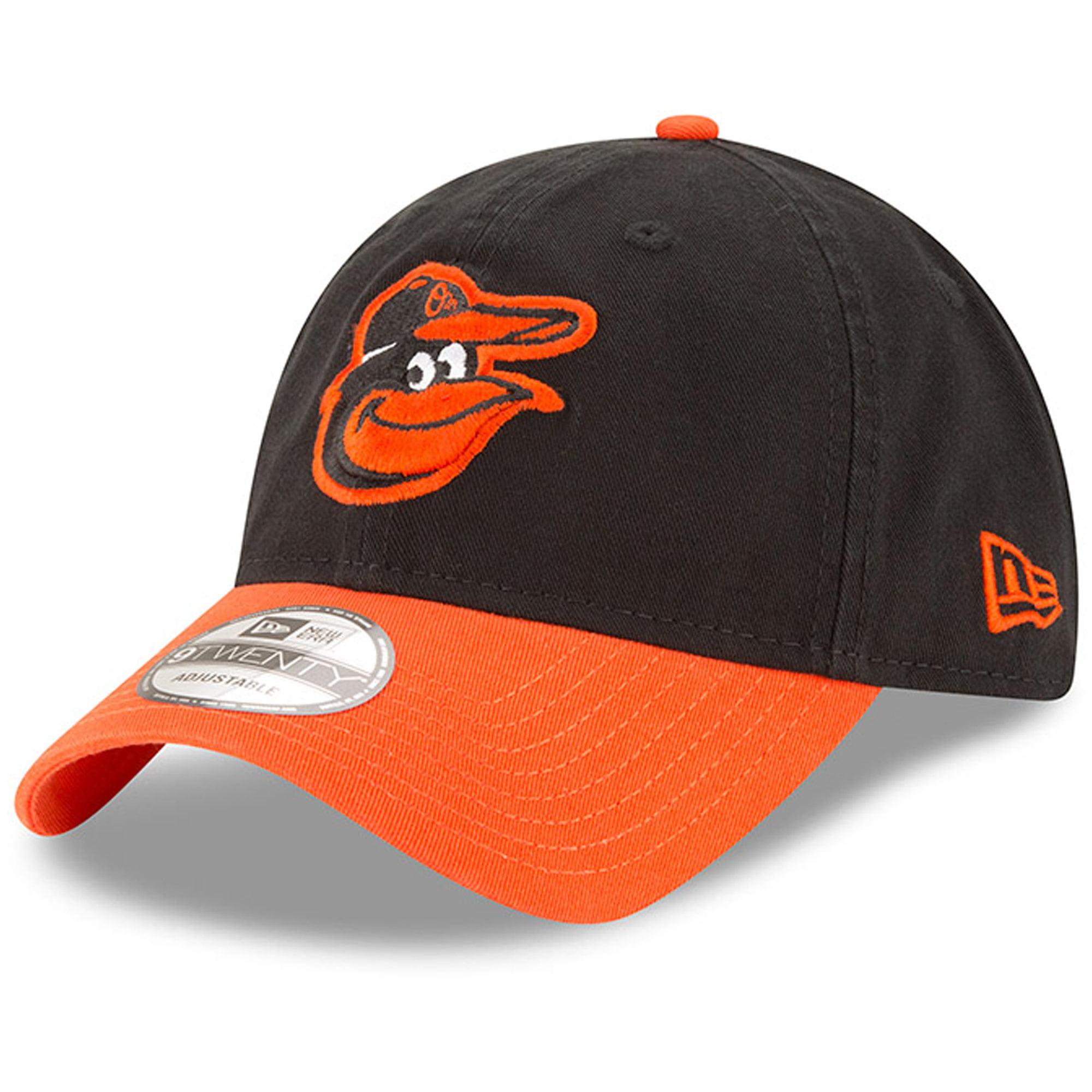Baltimore Orioles New Era Home Replica Core Classic 9TWENTY Adjustable Hat - Black/Orange - OSFA