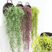 Artificial Fake Plastic Silk Eucalyptus Basket Plant Flowers Home Party Decor