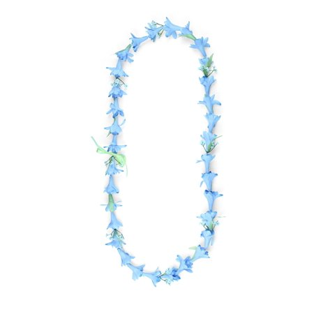 Hawaii Luau Party Artificial Fabric Long Tuberose Lei in Blue Tuberose for $<!---->