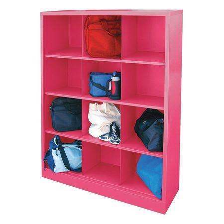 SANDUSKY IC00461866 30 Cubbie Cabinet,Pom Pom Pink,46in.Wx18inD G3455691