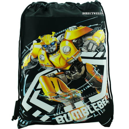Transformers Bumblebee Black Drawstring Bag (Softball Drawstring Bags)