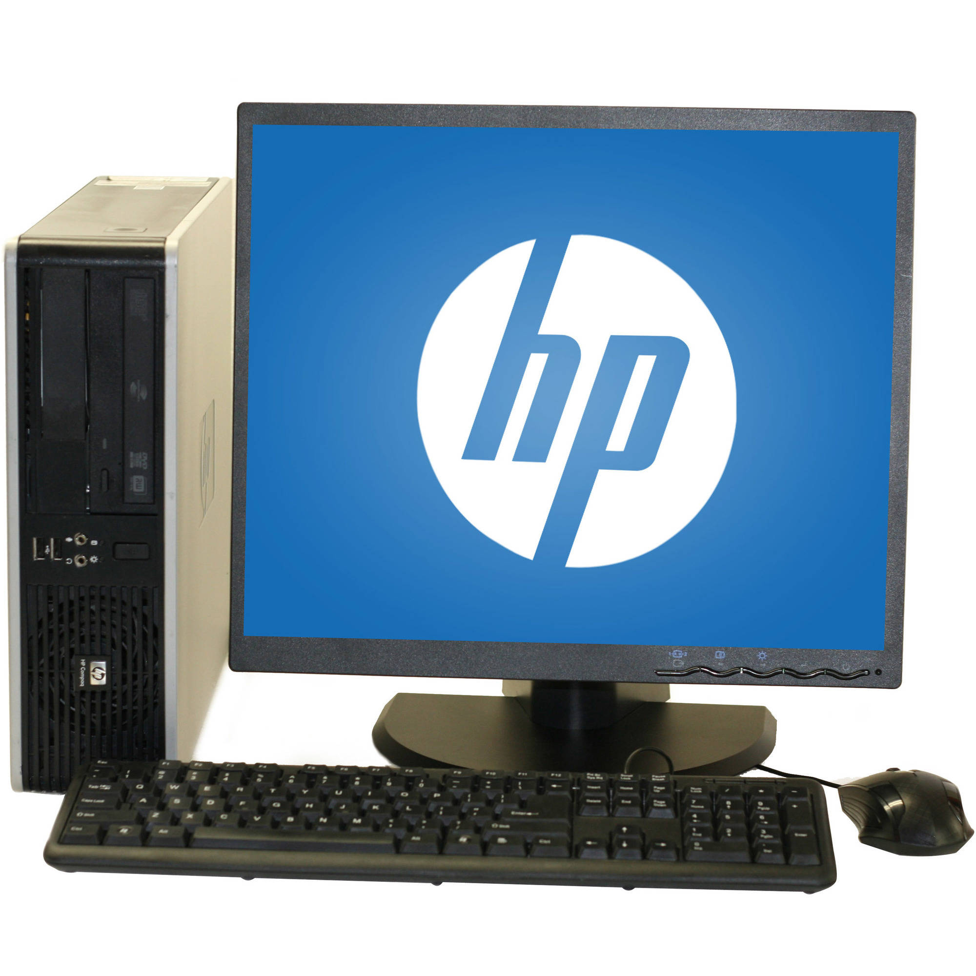 "Refurbished HP 7800 Desktop PC with Intel Core 2 Duo Processor, 4GB Memory, 19"" Monitor, 250GB Hard Drive and Windows 10 Home"